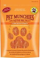 Pet Munchies Natural Dog Treats 100g Healthy 100% Meat Jerky Low Fat Box of 24