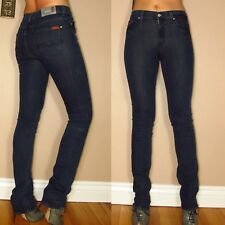 $169 Seven 7 For All Mankind Skinny Straight Leg High Waist Dark Jeans 24 25