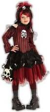 Punky Pirate Caribbean Wench Girl Gothic Black Dress Up Halloween Child Costume