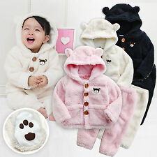 "NWT Vaenait Baby Winter Snowsuit Fleece Hoodie Jacket Pants 2pcs Set""Bear Set"""