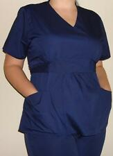 New Women Medical Scrubs Set Empire Waist Navy Blue Ceil Turquoise Wholesale