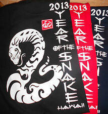 NEW ADULT COTTON 2013 ZODIAC YEAR OF THE SNAKE WHT T-SHIRT FROM CHINATOWN HAWAII