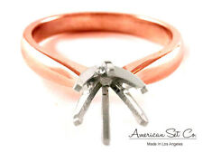 14K ROSE GOLD TAPER DIAMOND ENGAGEMENT RING SOLITAIRE SETTING
