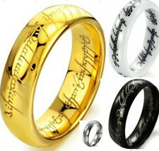 LOTR Ring Lord of Rings Tungsten Ceramic Stainless Steel Wedding Size 7 to 15