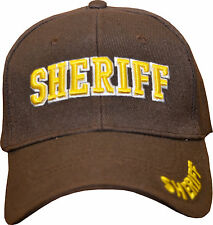 SHERIFF 3D PUFF DESIGN CAPS ... $ 12.50 FREE SHIPPING... CHOOSE YOUR COLOR!