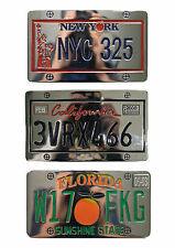 Brand New Mens Belt Buckle Registration Number Plate Silver Colour Custom Buckle