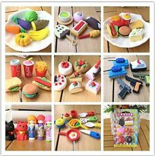 Sweetie Rubber Pencil Eraser Set Various Assorted Stationery Student Rewards