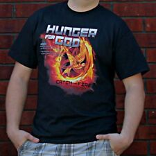 HUNGER FOR GOD Christian Hunger Games Mockingjay T-shirt, 2-sided***