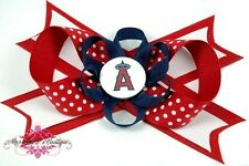 Los Angeles Angels of Anaheim Hair Bow on Headband, Alligator Clip or Barrette