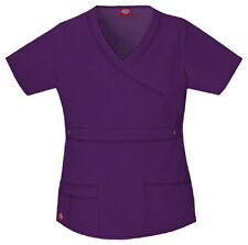 Scrubs Dickies Gen Flex Youtility Mock Wrap Top 817355 Eggplant FREE SHIPPING!