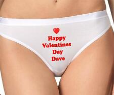 LADIES PERSONALISED BRIEFS KNICKERS SHORTS PANTS HAPPY VALENTINES DAY
