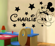 Mickey Mouse Personalised boys wallsticker new design!