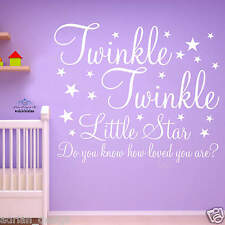 TWINKLE LITTLE STAR sticker vinyl nursery child room