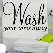 Wash your cares away wall art sticker