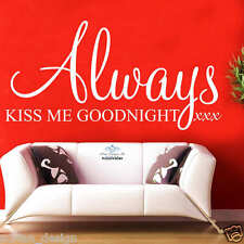 Always Kiss Me Goodnight wall art sticker quote decor 1