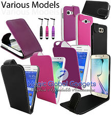 PREMIUM TOP QUALITY PU LEATHER FLIP CASE COVER POUCH FOR SAMSUNG MOBILE PHONES