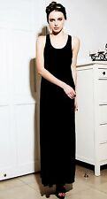 Women Lady Celebrity Style Cotton Maxi sleeveless Tank Long Beach Vest Dress