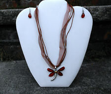 Mystical Dragonfly Necklace set - earings