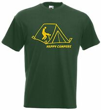 Happy Campers t shirt - Funny t-shirt Camping nature comic sex tent outdoors peg