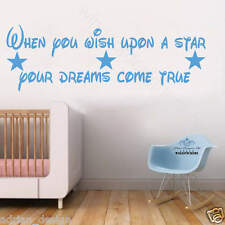 When you wish upon a star dream wall sticker Design tra