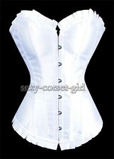 White Bridal Satin Size S-2XL Corset Sexy Bustier Wedding  Hot Selling SCG-A106