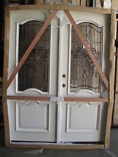 SALE!!! Solid White Mahogany Double Door Pre-hung &Finished,5/0X6/8 DWT7501-GL36
