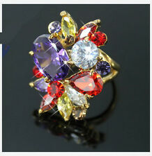 CHUNKY COLOURFUL CRYSTAL STATEMENT COCKTAIL RING N/P 16mm/17mm RI02