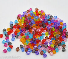 Faceted Bicone Acrylic 8x8mm Spacer Beads Mixed Colours - Qty's 100 - 200 - 300