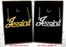 NAME NECKLACE 18ct Gold Plated Jessica/Joanne/Jodie/Julie/Karen/Kate/Katie Gift
