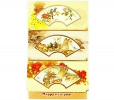 New High Quality China Fan Golden Decor Chinese New Year Good Luck Greeting Card