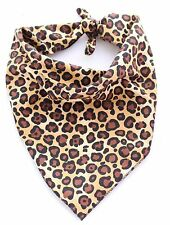 Leopard /Animal Print Birthday Puppy Dog Grooming Bandana/Collar Handmade in UK