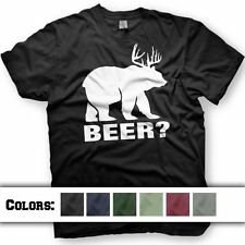 BEER deer bear T-SHIRT Funny Tshirt. Multiple colors Available