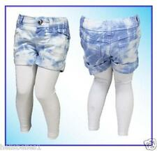GIRL'S EX MILLIE 2PC DENIM SHORTS & LEGGING SET OUTFIT 2 3 4 5 6 7 8 9 YRS