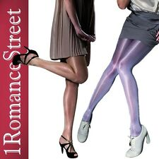 SEMI OPAQUE SHINY GLOSSY SHIMMERY PANTYHOSE FIORE TIGHTS RAULA size S M L