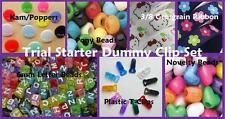 Dummy clip Refill/Starter kit - 200 Pieces! Grosgrain, pony beads, kams & clips