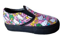 Vans Hello Kitty Classic Slip-on Pink and Black Trainers UK Infant 7 to UK 2