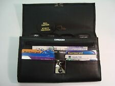 TRAVEL Document WALLET ORGANISER with lock for Passport etc Soft Grain Pu