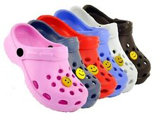 KIDS BOYS GIRLS UNISEX BEACH CLOG MULE FLIP FLOP SANDAL WET SHOE NEW SIZE UK 4-2
