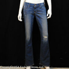Hollister by Abercrombie Women's Jeans Boot Destroy Medium Wash NWT