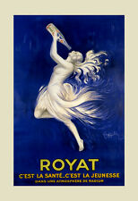 Fashion Lady Girl Spring Mineral Royat Water by Cappiello Poster Repro FREE S/H