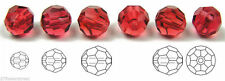 Czech Machine Cut Faceted Round Crystal Beads, Hot Pink, Superior Quality
