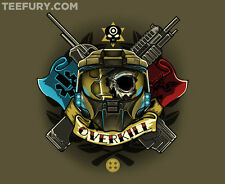 OVERKILL Halo 4 Reach Xbox Red vs Blue Master Chief TEEFURY Mens T-shirt Ript