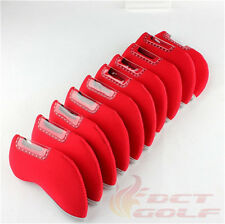 10Pcs Golf Iron Covers Multicolor Set Headcovers Neoprene for Mizuno Titleist