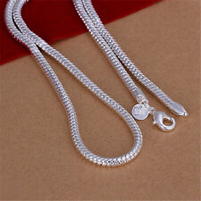 Wholesale Price 925Sterling Silver Snake Chain Men Necklace 4MM 16 - 24inch N191