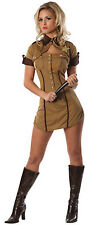 Pull Over Police Officer Sheriff Cop Brown Dress Up Halloween Sexy Adult Costume