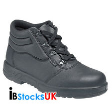 MENS SAFETY WORK BOOTS STEEL TOE CAPS ANKLE TRAINERS SHOES SIZE 7 10 11 12 13 BK