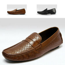 Leather Casual SLIP-ON Business penny Loafer mens driving car shoes [JG]