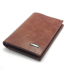 New Mens Wallet KOREA -145 Vintage Bifold Oil Leather Long Mini Purse So Hot