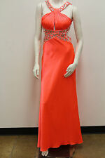 Sonia J Beaded W/Pleated Bodice Open Back Prom/Evening/Bridesmaid Dress