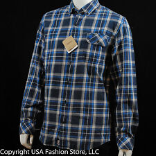 Timberland Men's Shirt Plaid Navy-Blue NWT